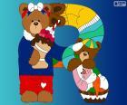 Letra R de osos