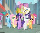 Ponis llegando a Manehattan