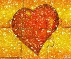Puzzle de corazón rojo