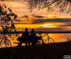 Puesta de sol en pareja