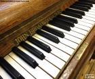 Teclas de piano clásico