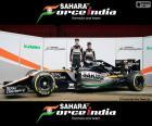 Sahara Force India F1 2016, formado por Nico Hülkenberg, Sergio Pérez y el nuevo VJM09