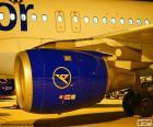 Motor de un avión
