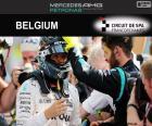 Nico Rosberg celebra su sexta victoria de la temporada en el Gran Premio de Bélgica 2016