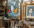 Taller artista pintor