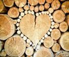 Tronco en forma de corazón