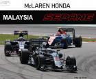 Fernando Alonso, séptimo en el Gran Premio de Malasia 2016, con su McLaren