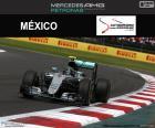 Nico Rosberg, segundo en el Gran Premio de México 2016, con su Red Bull