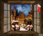 Mercadillo Navidad, ventana
