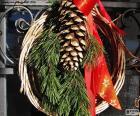 Corona de Navidad rústica