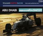 El piloto brasileño Felipe Massa durante su participación en el Gran Premio de Abu Dhabi 2016, pilotando su Williams