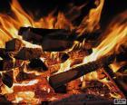 Fuego en la chimenea