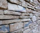 Pared de piedra natural