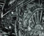 Viejo tren de vapor