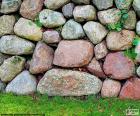 Muro de jardín de piedra