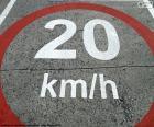 Zona limitada a 20 km/h