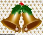 Dos campanas navideñas