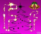 Letra F para la Navidad
