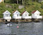 Casas en el lago, Noruega