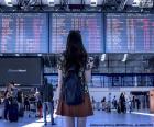 Panel de información aeropuerto