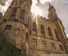 Detalle de una parte del del Castillo de Hohenzollern, situado 50 kilómetros al sur de Stuttgart, Alemania
