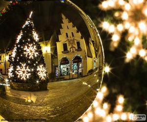 Puzzle de Reflejo árbol de Navidad