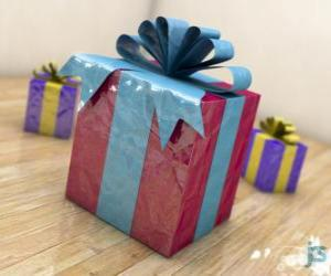 Puzzle de Regalos de Navidad adornados con lazos