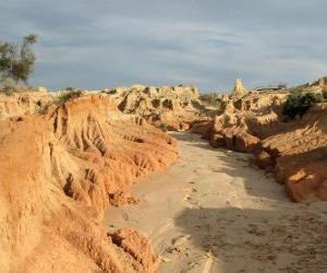 Puzzle de Región de los Lagos Willandra, Australia