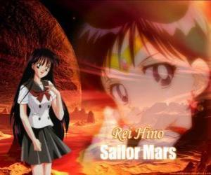 Puzzle de Rei Hino se transforma en Sailor Mars, Sailor Marte, Guerrero o Princesa Marte