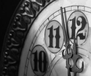 Puzzle de Reloj a punto de las doce de la noche