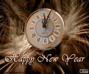 Puzzle de Reloj de año nuevo
