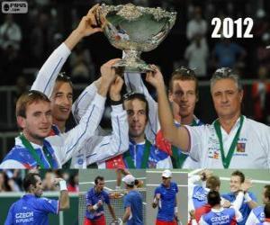 Puzzle de República Checa, campeón de la Copa Davis 2012