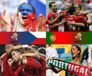 Puzzle de República Checa - Portugal, cuartos de final, Euro 2012
