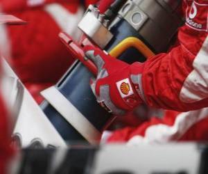 Puzzle de Repostaje de gasolina F1