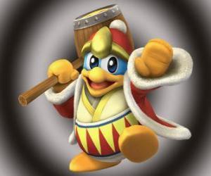Puzzle de Rey Dedede, gran enemigo de Kirby