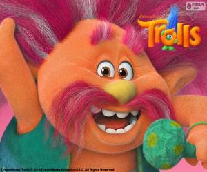 Puzzle de Rey Peppy, líder de los Trolls