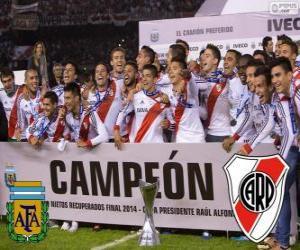 Puzzle de River Plate, campeón Torneo Final Argentina 2014
