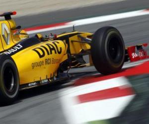 Puzzle de Robert Kubica - Renault - Barcelona 2010