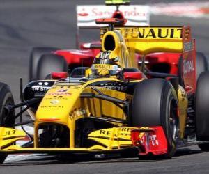 Puzzle de Robert Kubica - Renault F1 - Silverstone 2010