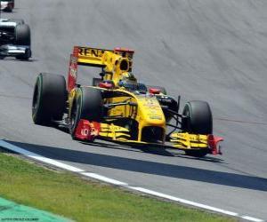 Puzzle de Robert Kubica - Renault - Interlagos 2010