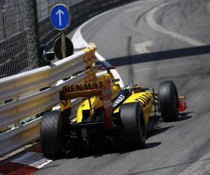 Puzzle de Robert Kubica - Renault - Monte-Carlo 2010