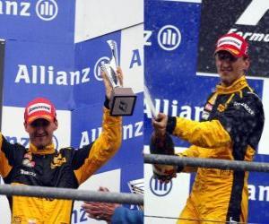 Puzzle de Robert Kubica - Renault - Spa-Francorchamps, Gran premio de Bélgica 2010 (3er Clasificado)