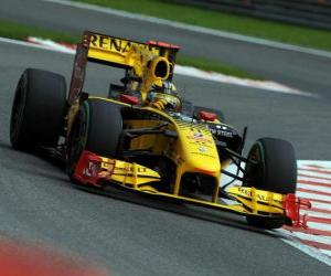 Puzzle de Robert Kubica - Renault - Spa-Francorchamps 2010