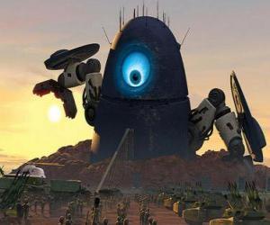 Puzzle de Robot Probe, el robot alienígena o extraterrestre