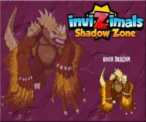 Puzzle de Rock Dragon. Invizimals La otra dimensión. Los dragones de roca viven en los cráteres de los volcanes