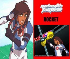 Puzzle de Rocket es el capitán del equipo de fútbol galáctico Snow-Kids con el número 5