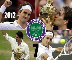 Puzzle de Roger Federer Campeón Wimbledon 2012