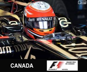 Puzzle de Romain Grosjean - Lotus - Circuit Gilles Villeneuve, Montreal, 2013