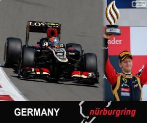 Puzzle de Romain Grosjean - Lotus - Gran Premio Alemania 2013, 3er Clasificado