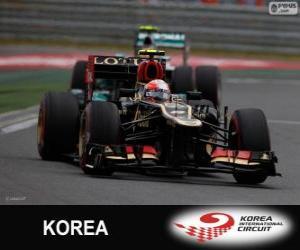 Puzzle de Romain Grosjean - Lotus - Gran Premio de Corea 2013, 3er Clasificado